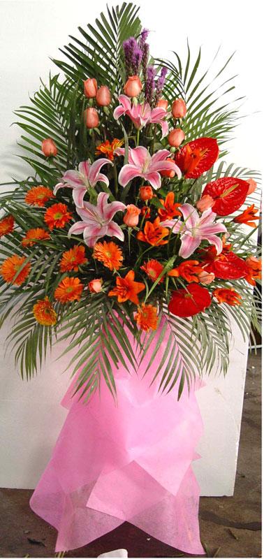 供应佛山开业花篮,鲜花,手棒花,艺术插花