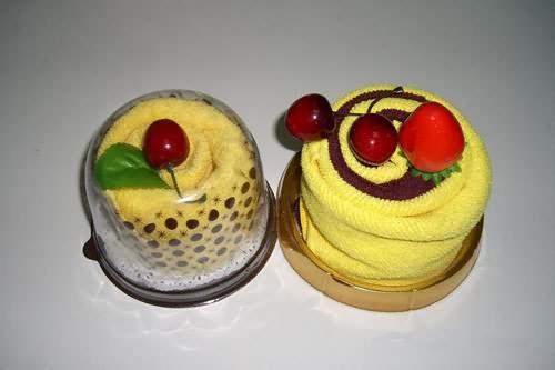 小圆形蛋糕毛巾图片