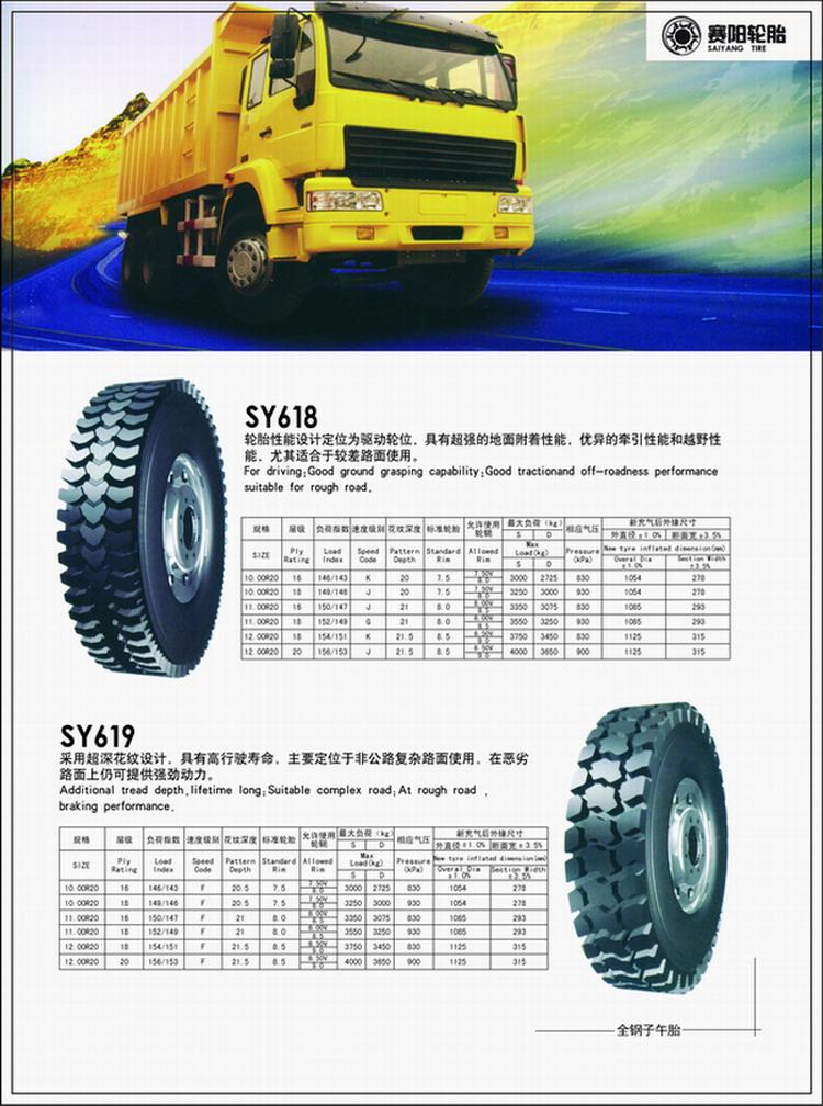 供应SY618轮胎