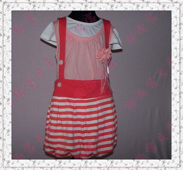 背带裙童装图片