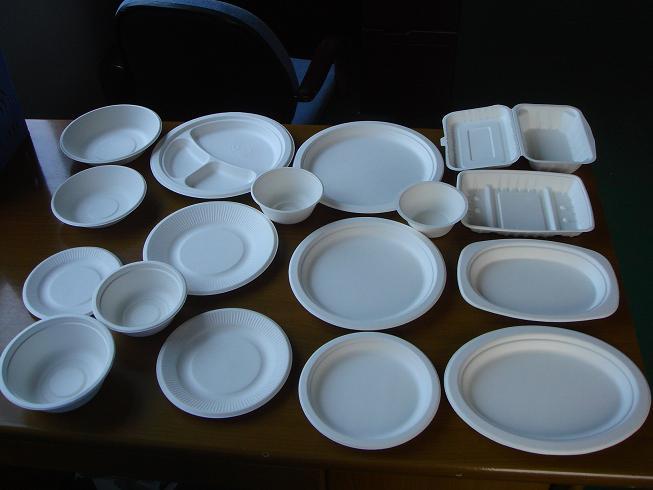 纸浆餐具图片大全