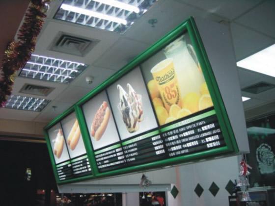 餐饮广告灯箱奶茶灯箱餐饮灯箱
