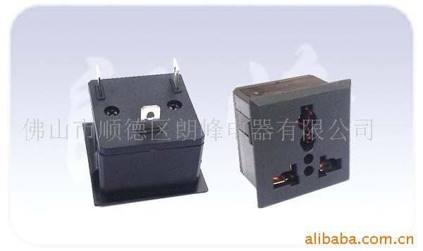 供应卡入式万用插座,万能插座,机柜插座,流水线插座批发