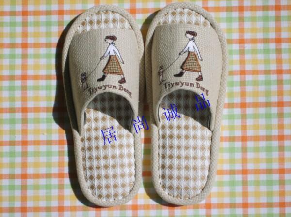 布拖鞋图片|布拖鞋样板图|亚麻布拖鞋-创意居尚诚品