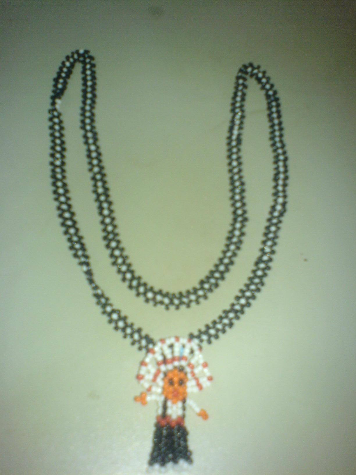 手工串珠项链图片