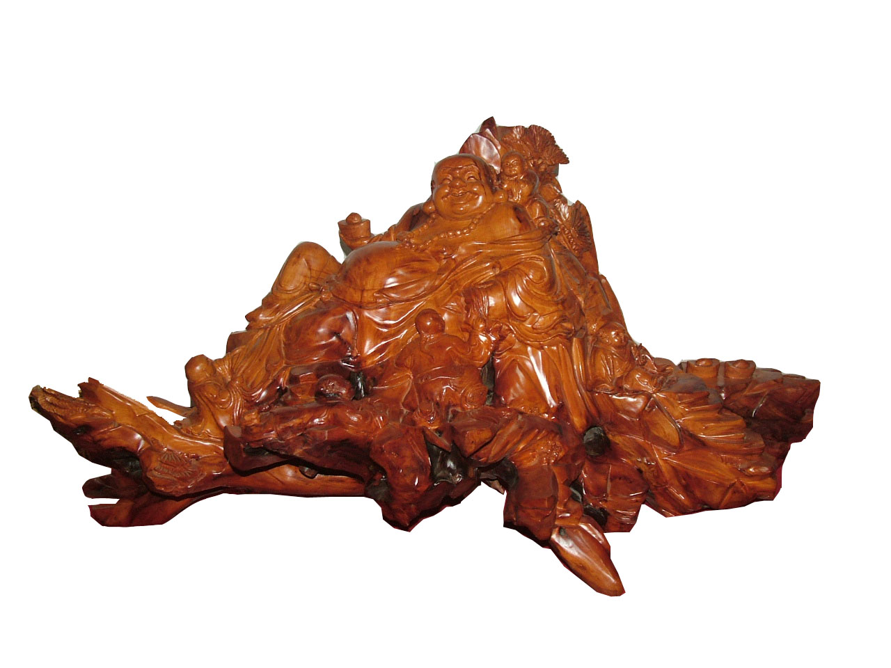 红豆杉根雕茶桌图片图片大全 红豆杉树根制作而成,茶桌是一