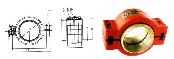供应钢制柔性接头卡箍