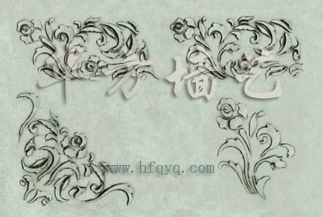 樟树手绘线稿