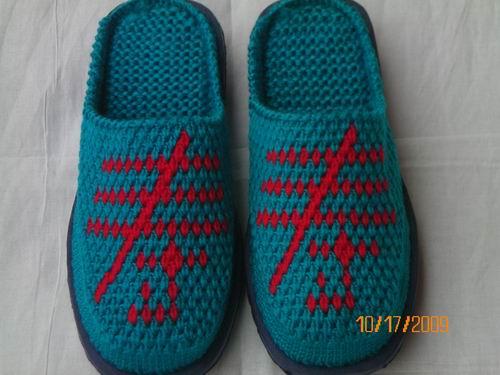 毛线拖鞋图案大全 打毛线棉鞋的各种图案 毛线棉鞋 ...