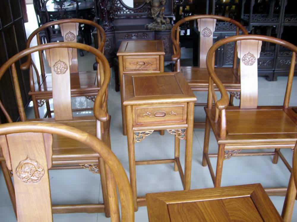 红木家具明清家具非洲花梨圈椅图片