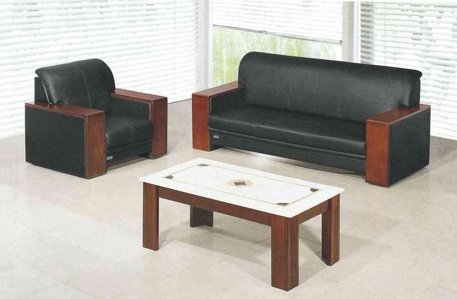 木扶手办公沙发
