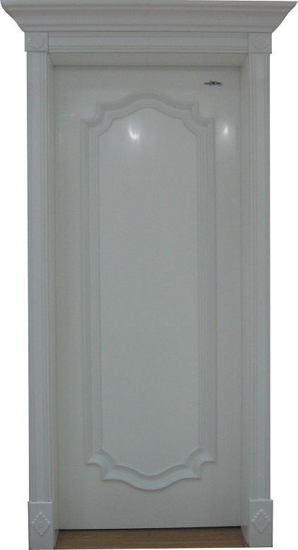 白色花瓶白色欧式门背景