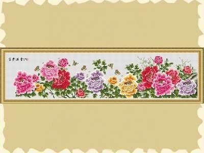 在线观看十字绣 牡丹 九尺牡丹十字绣 客厅牡丹十字绣图案图片