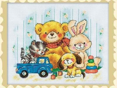 玩具小动物十字绣报价