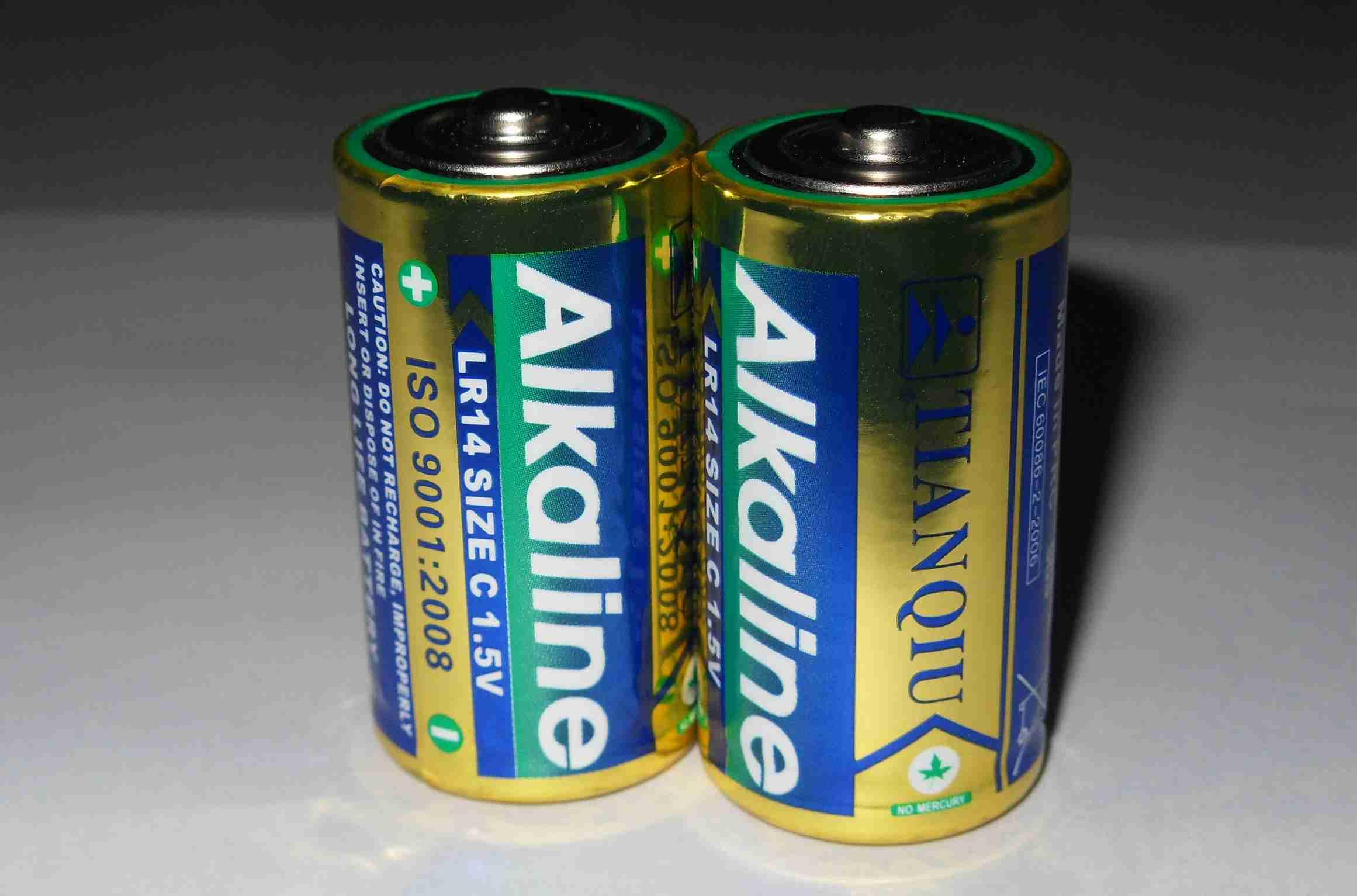 供应天球LR14电池、2号碱性干电池