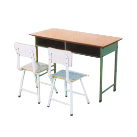 双人学生课桌凳