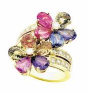 时尚高雅形锆石戒指饰品批发图片