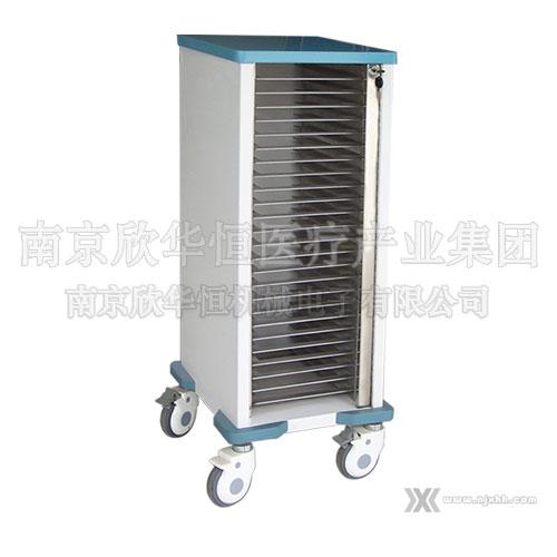 供应不锈钢单列病历夹车-江苏南京不锈钢查房车生产供应商 供应不锈