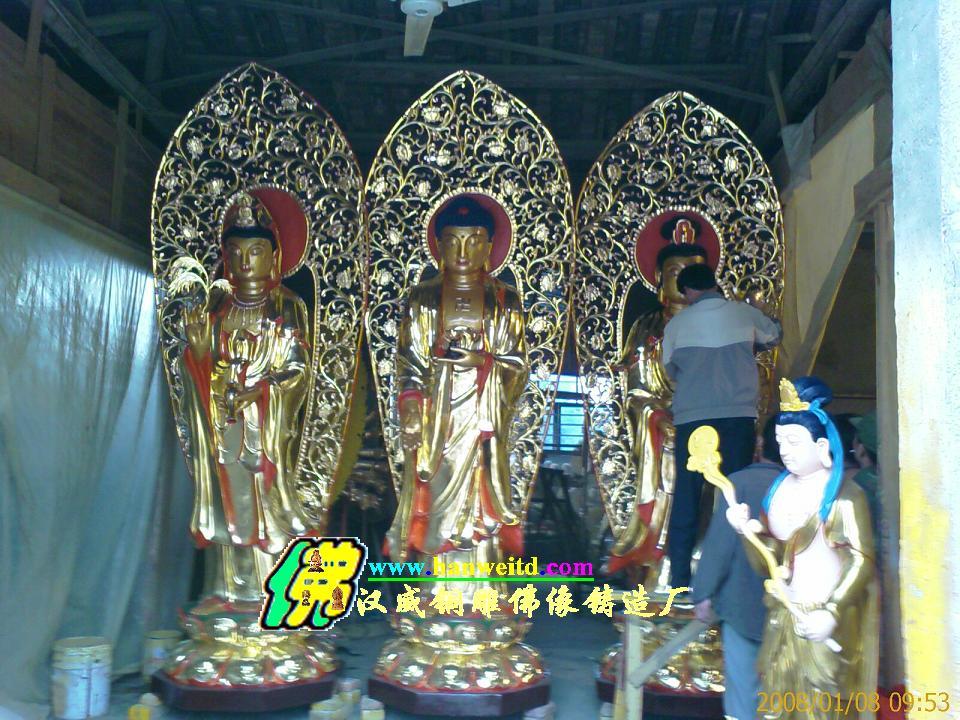 ...铜雕佛像样板图 寺庙铜雕佛像贴金彩绘 福建汉威铜雕塑铜佛像...