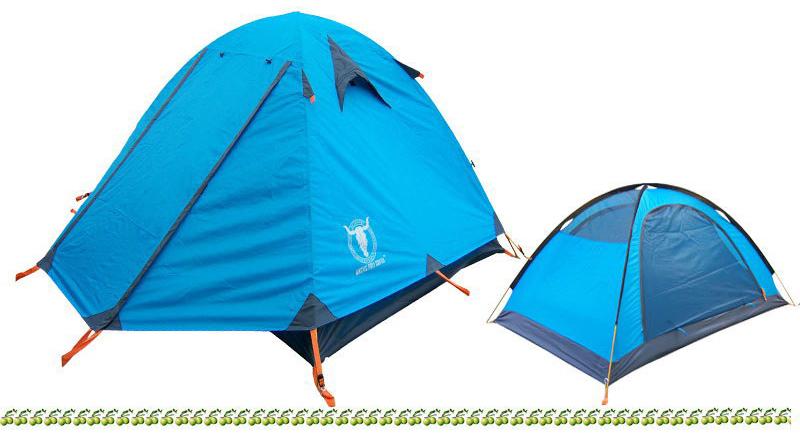 2-3人双层双开门帐篷产品描述:   品名:2-3人双层玻杆帐篷内帐尺寸