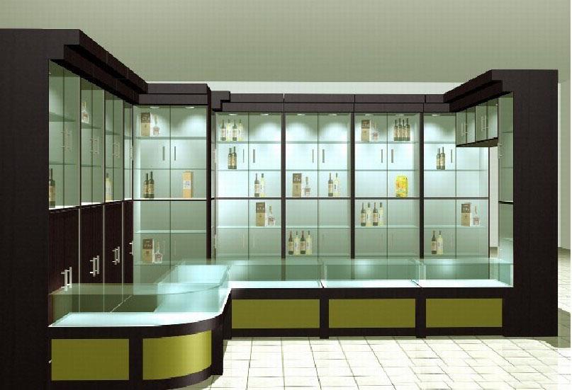 玻璃展示柜图片_展示架,展示柜