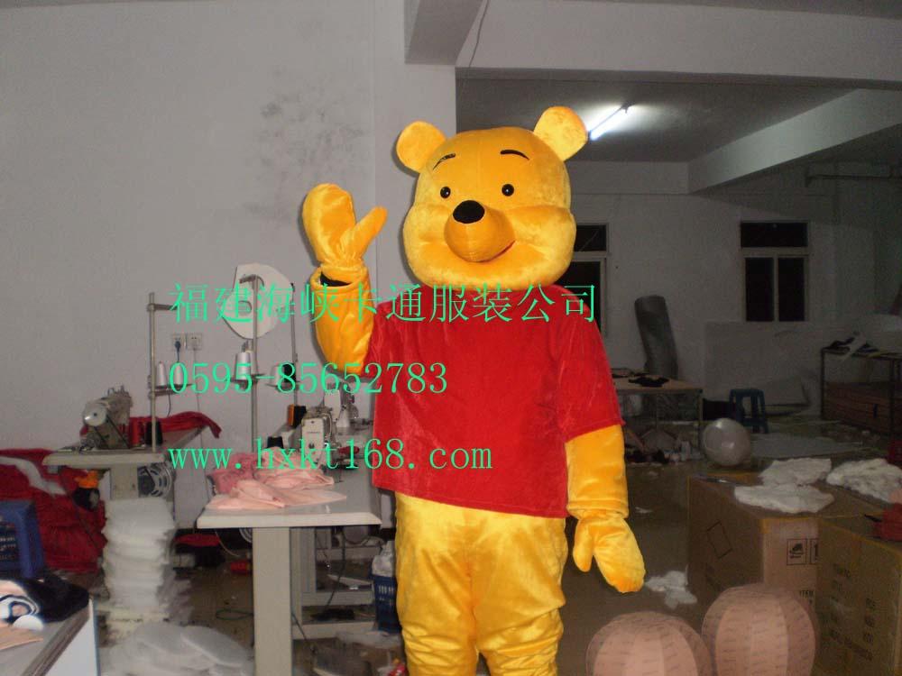供应唐山卡通服装维尼熊