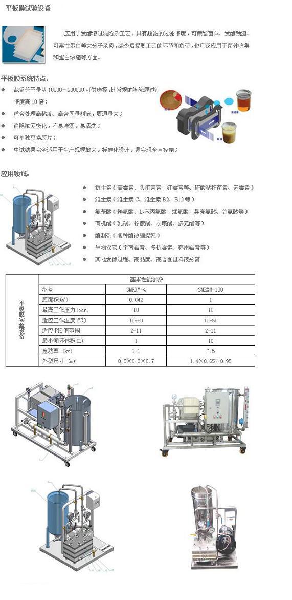 供应平板膜实验设备