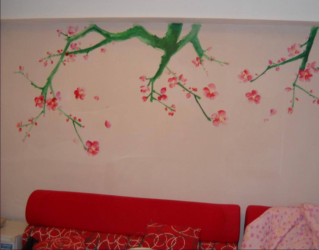 大连室内墙画图片
