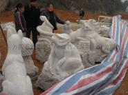 石雕十二生肖柱图片