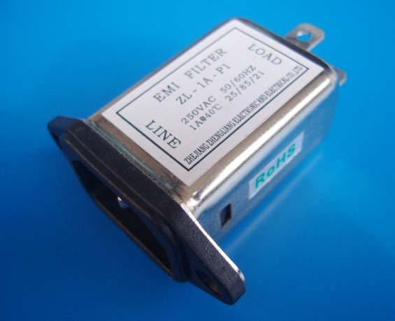 电源滤波器图片 电源滤波器样板图 插座式电源滤波器ZL 1...