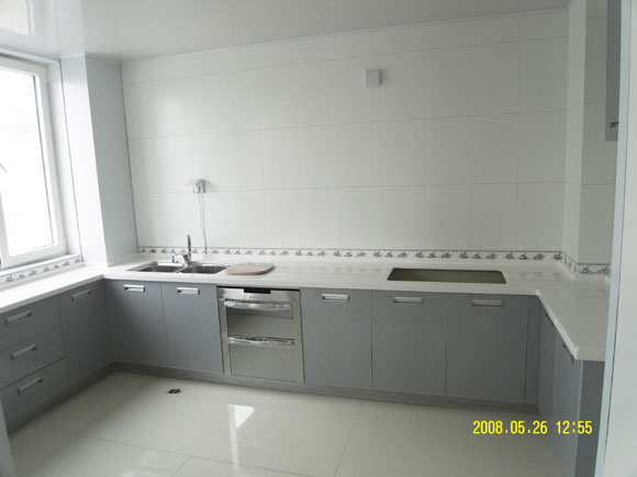 灰色厨房橱柜效果图