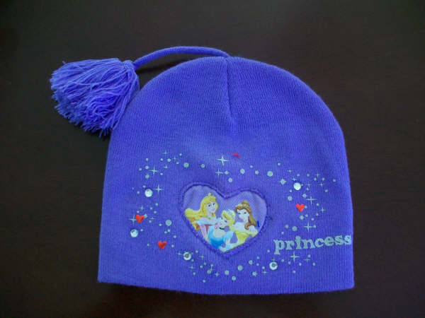 供应紫色儿童针织帽批发