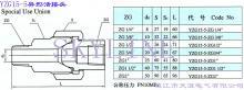 供应YZG155异形活接头