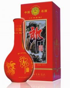 上海十年陈红花郎酒批发价格图片