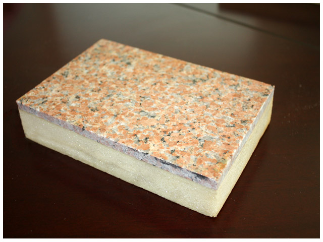 供应超薄天然石材聚氨酯保温装饰板