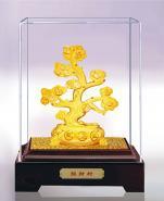 电铸绒沙金人寿保险摇钱树礼品图片