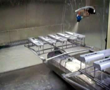全方位自动喷涂机生产实景图片/全方位自动喷涂机生产实景样板图