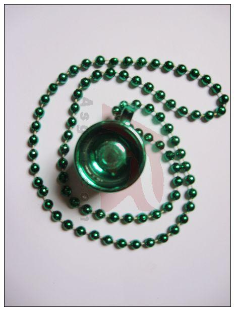 供应爱尔兰节绿色酒杯项链批发