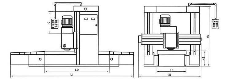 供应端面铣床龙门铣床铸件生产