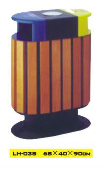 供应河南钢木垃圾桶