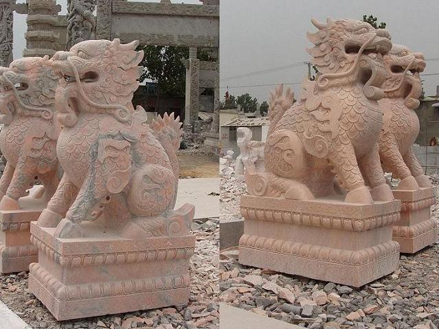 供应石雕貔貅天禄辟邪獬豸批发