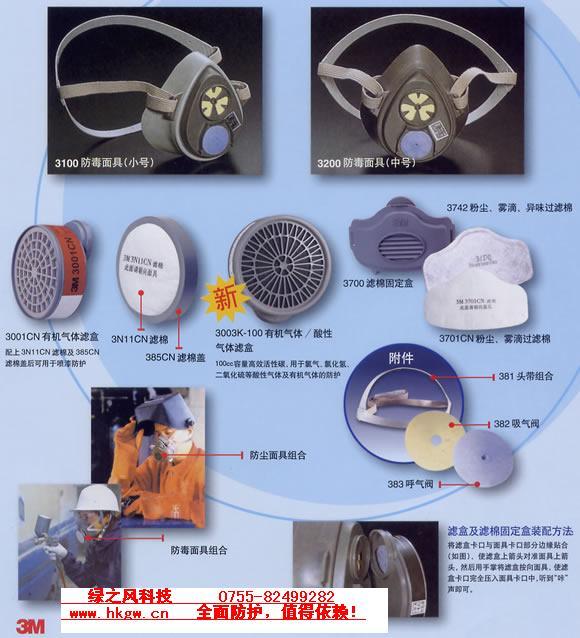 供应防病毒防尘防毒气防护半面具面罩