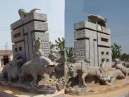 12生肖柱生肖石雕图片