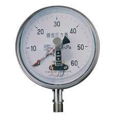 供应不锈钢膜盒电接点压力表