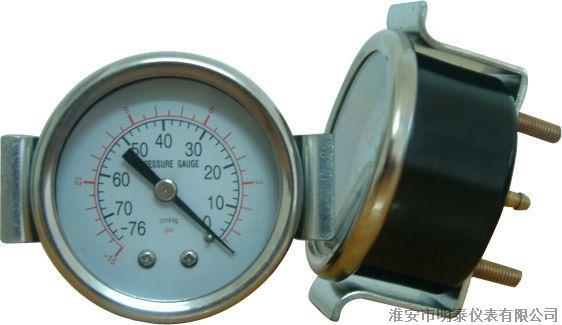 供应带支架式压力表