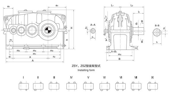 供应泰隆标ZSY224齿轮减速机