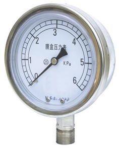供应YE膜盒压力表