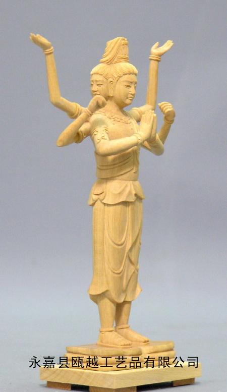 供应木雕佛像 圣观音 供应黄杨木雕佛像反弹飞天琵琶女 供应木雕彩绘