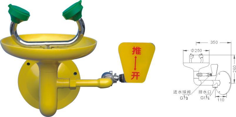 供應本溪洗眼器廠家 丹東洗眼器青海復合式沖淋洗眼器西寧不銹鋼緊急噴淋洗眼裝置格爾木BTF11復合式洗眼器批發