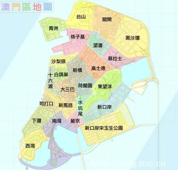 香港澳门地图位置